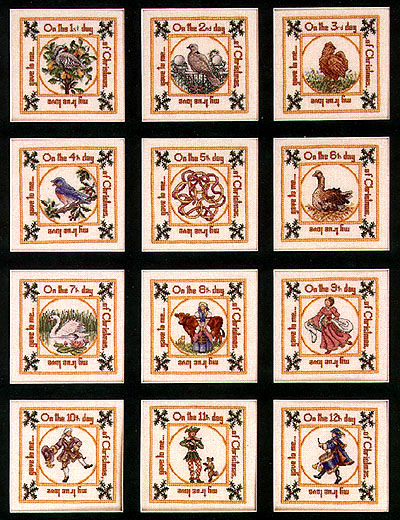 12 Days Of Christmas Cross Stitch.Teresa Wentzler The 12 Days Of Christmas
